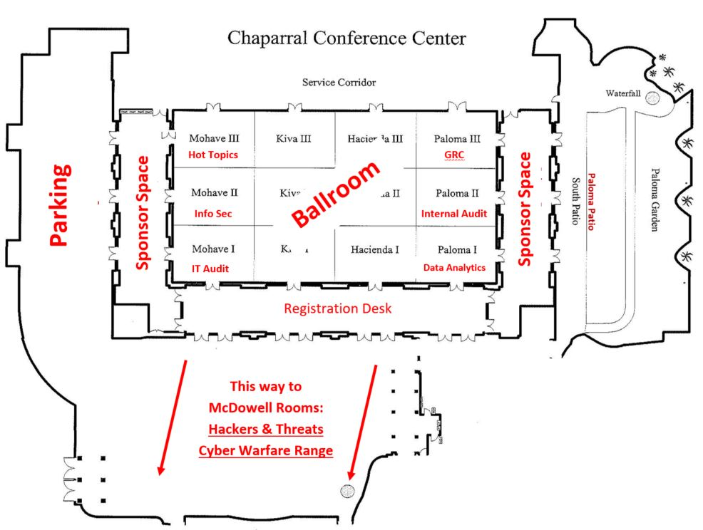 Chaparral Conference Center Facility Map