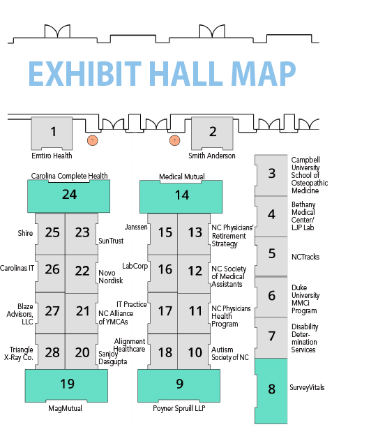 exhibit hall map