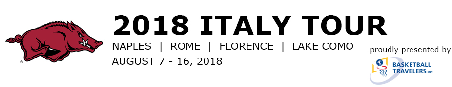 Arkansas Women's Basketball Italy Tour 2018