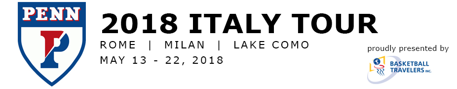 Penn Men's Basketball Italy Tour 2018