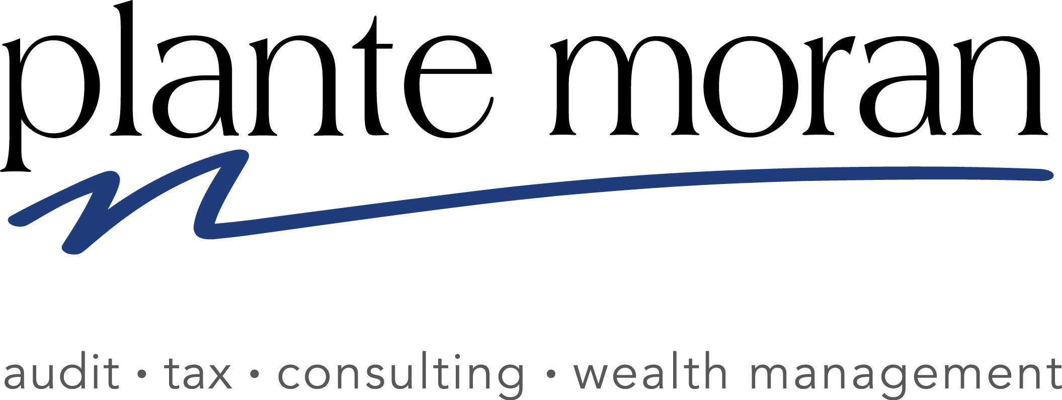 Plante Moran logo with tagline- Color