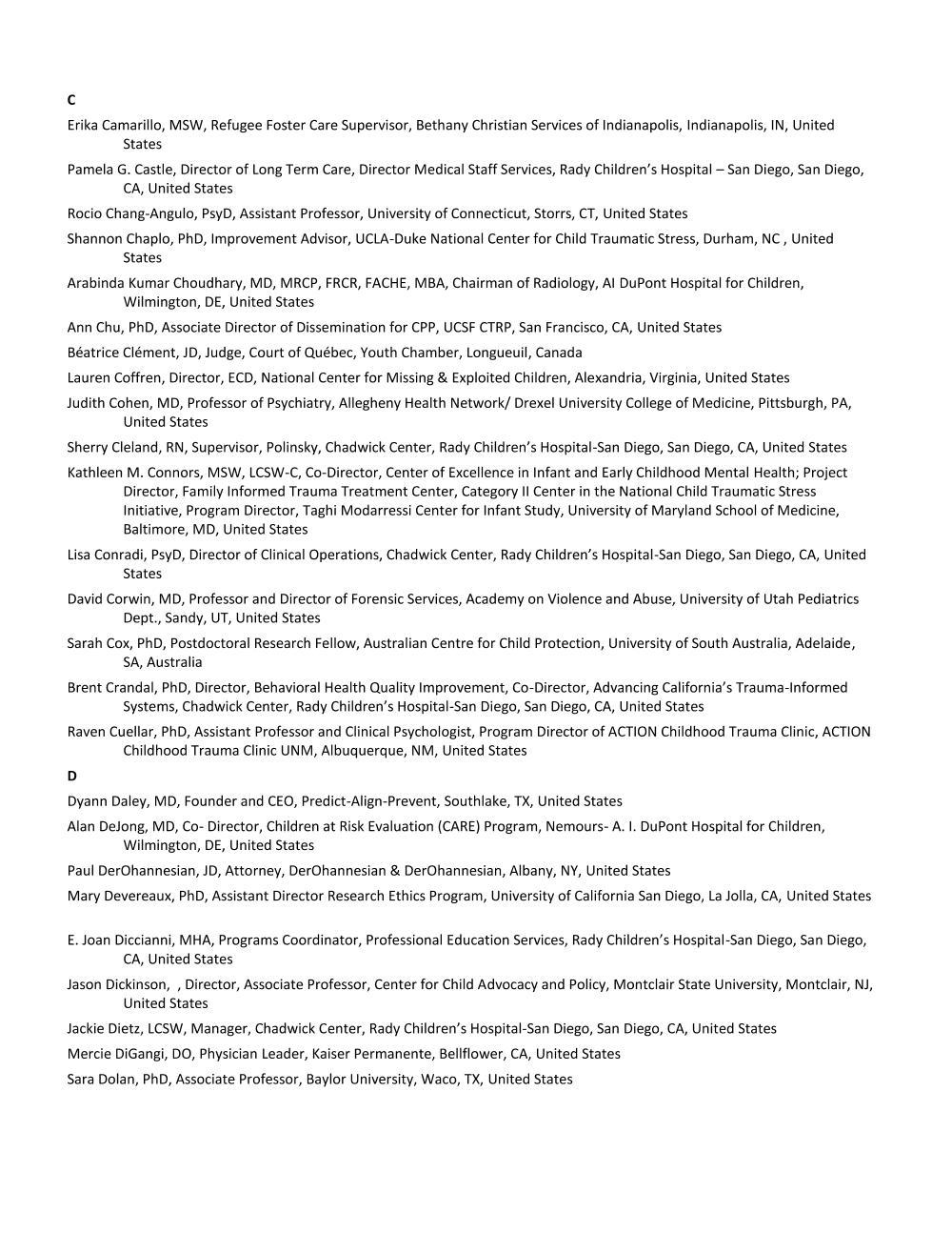2_Faculty List - Alpha