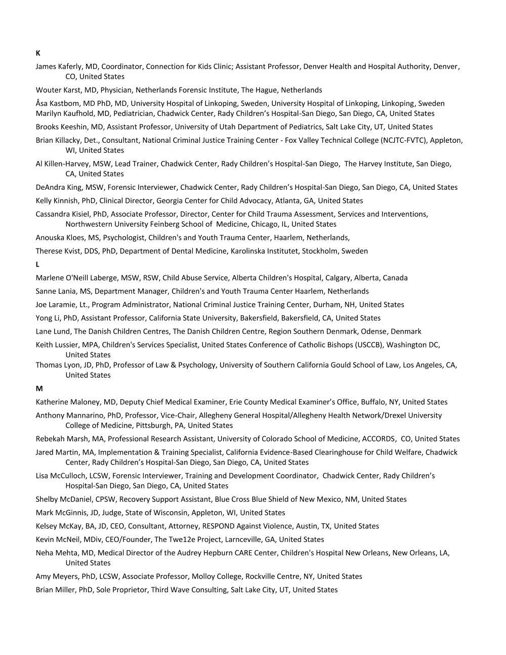 5_Faculty List - Alpha