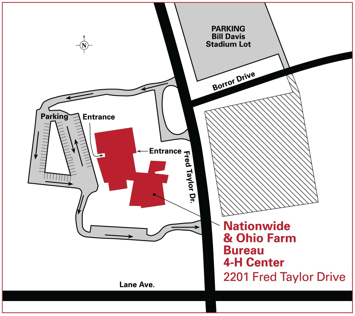 4-H Center parking map
