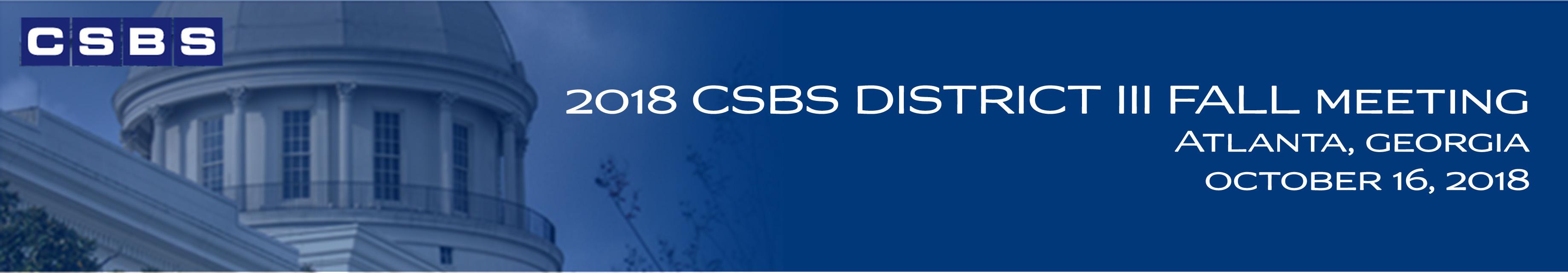 2018 CSBS District III Fall Meeting