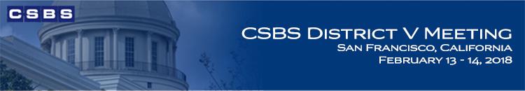 2018 CSBS District V Meeting
