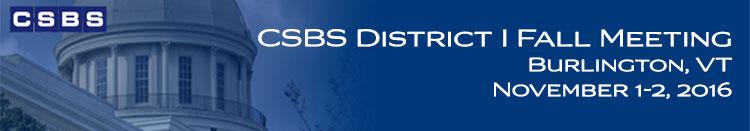 2016 CSBS District I Fall Meeting