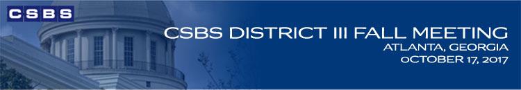 2017 CSBS District III Fall Meeting