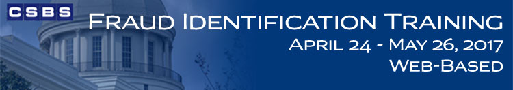 Fraud Identification Training (April - May 2017)
