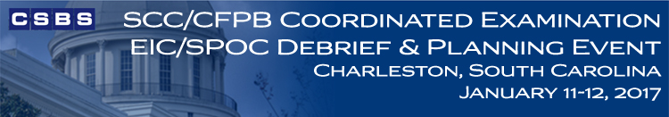 SCC/CFPB Coordinated Examination EIC/SPOC Debrief and Planning Event