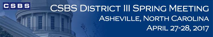 2017 CSBS District III Spring Meeting