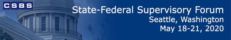 DO NOT USE - CSBS State-Federal Supervisory Forum