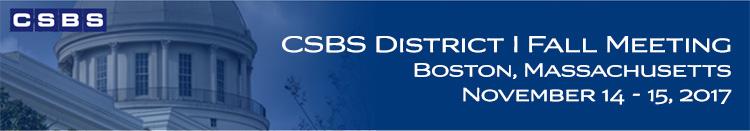 2017 CSBS District I Fall Meeting