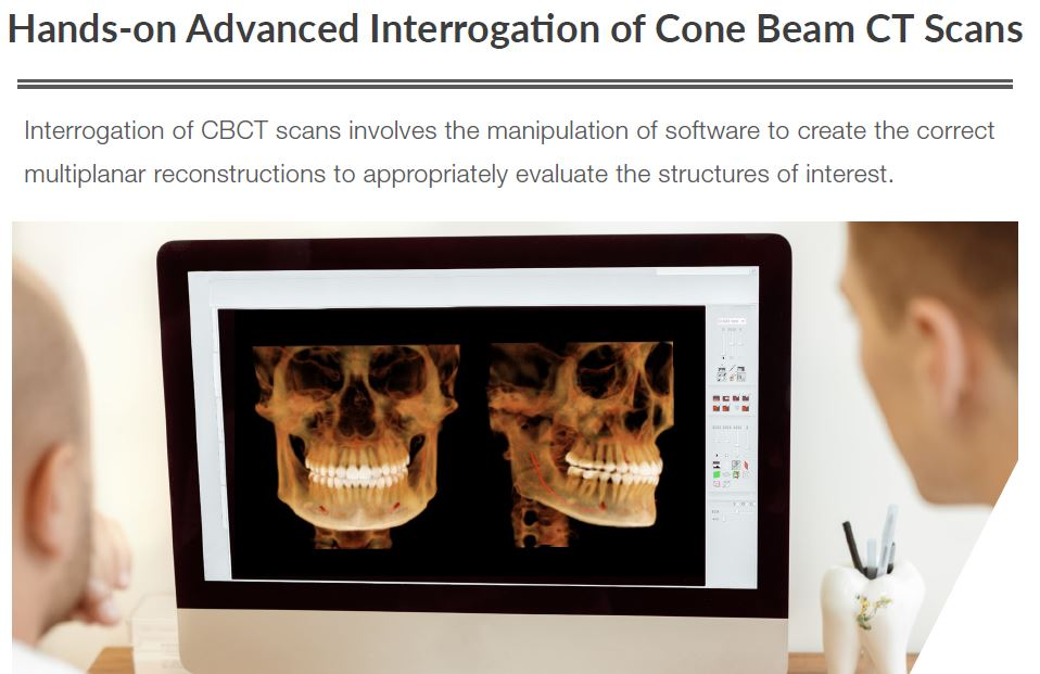 Hands-on Advanced Interrogation of Cone Beam CT Scans