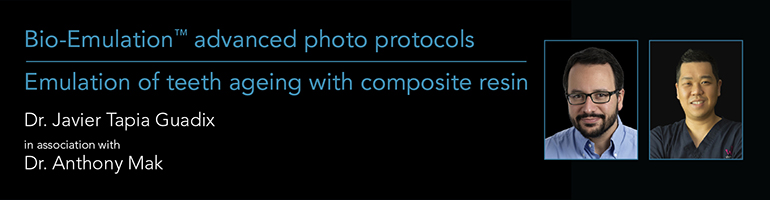 Bio-Emulation Advanced Photo Protocols and Emulation of Teeth Ageing with Composite Resin