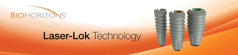 LaserLok Technology for enhanced peri-implant bone and soft tissue attachment