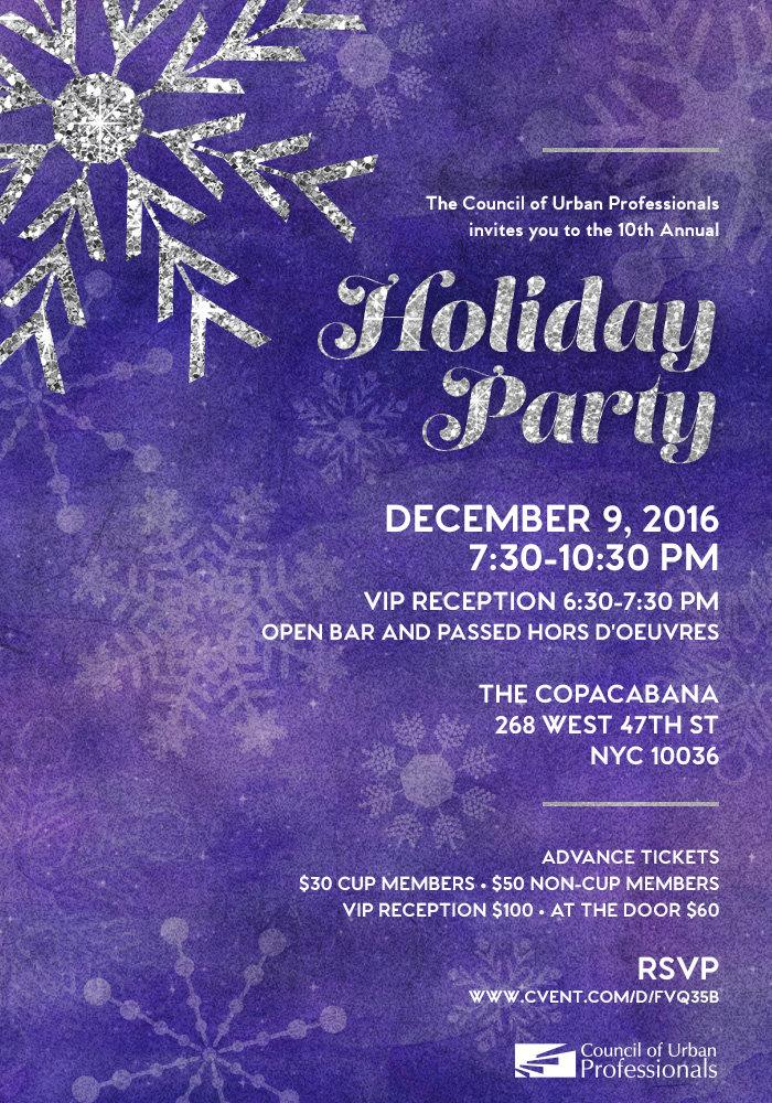 CUP's 10th Annual Holiday Party