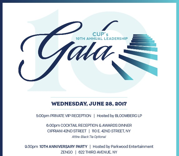 CUP's 10th Annual Leadership Gala - DISCOUNT