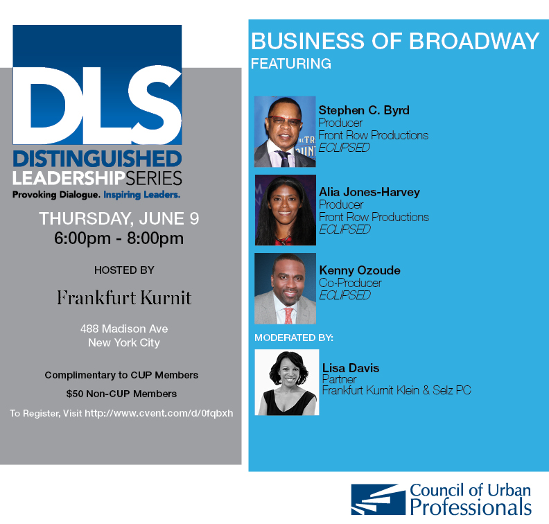 Distinguished Leadership Series - The Business of Broadway