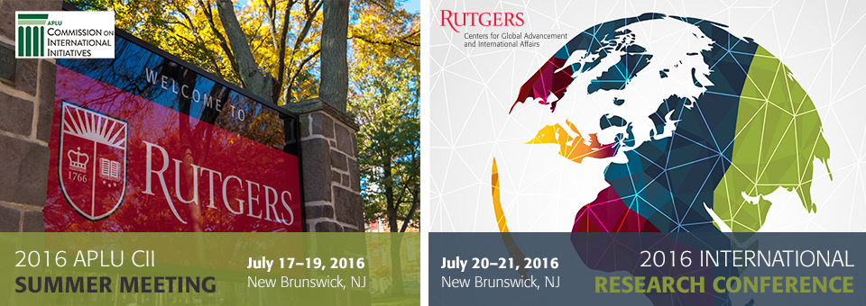 2016 CII Summer Meeting & Rutgers International Research Conference