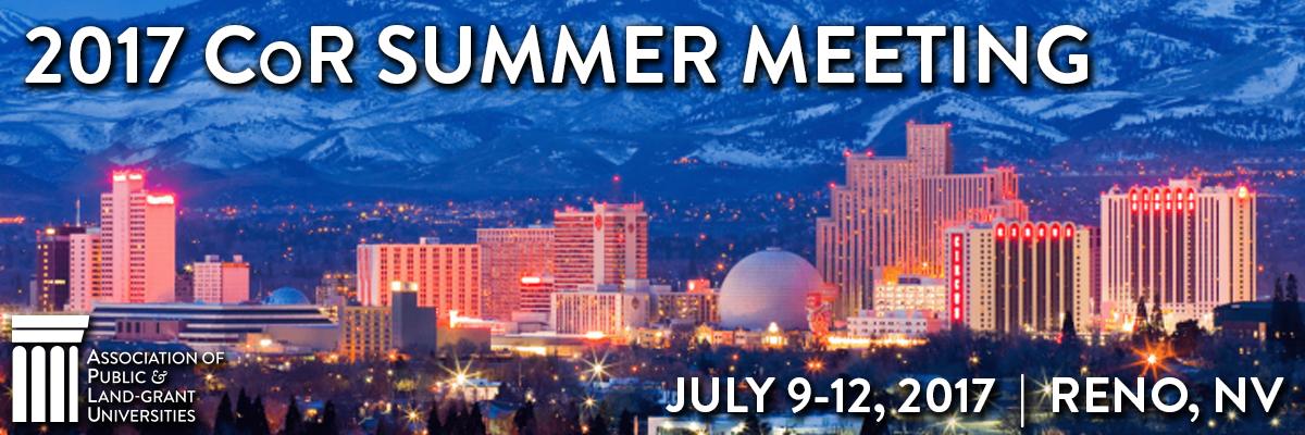 2017 CoR Summer Meeting
