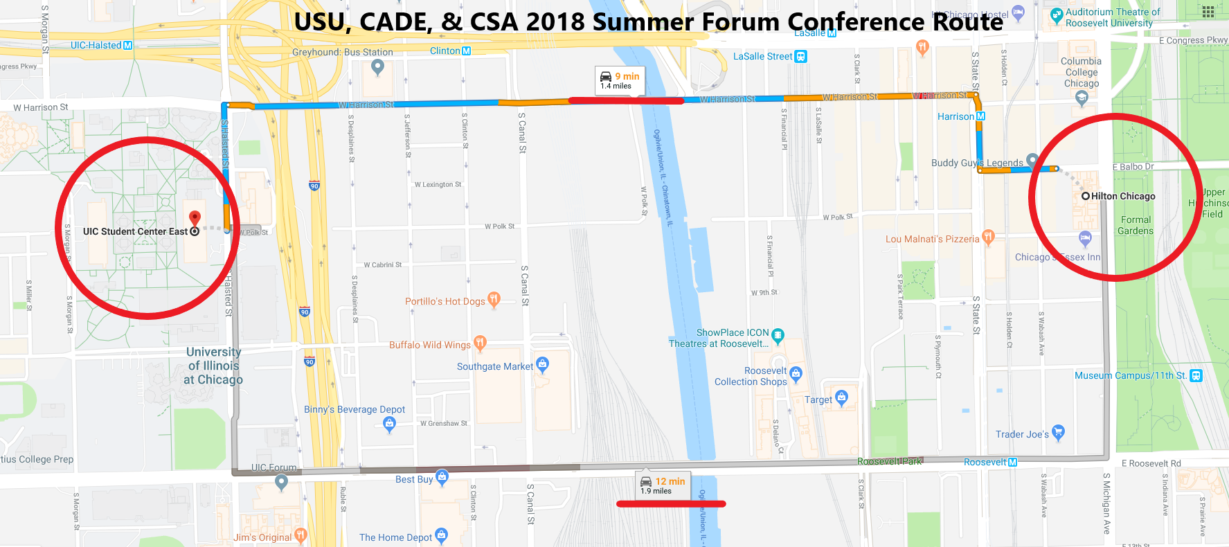 Shuttle Map Summer 2018 Conference Route (002)
