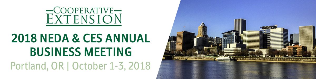 2018 NEDA and Annual Cooperative Extension Section Meeting