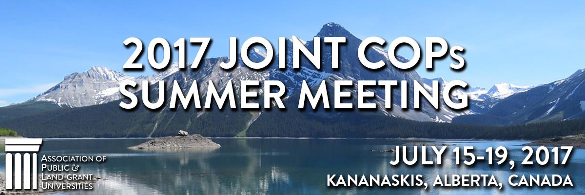 2017 Joint COPs Summer Meeting