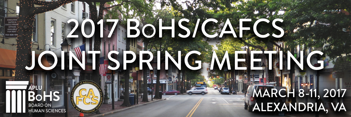 2017 BoHS/CAFCS Joint Spring Meeting