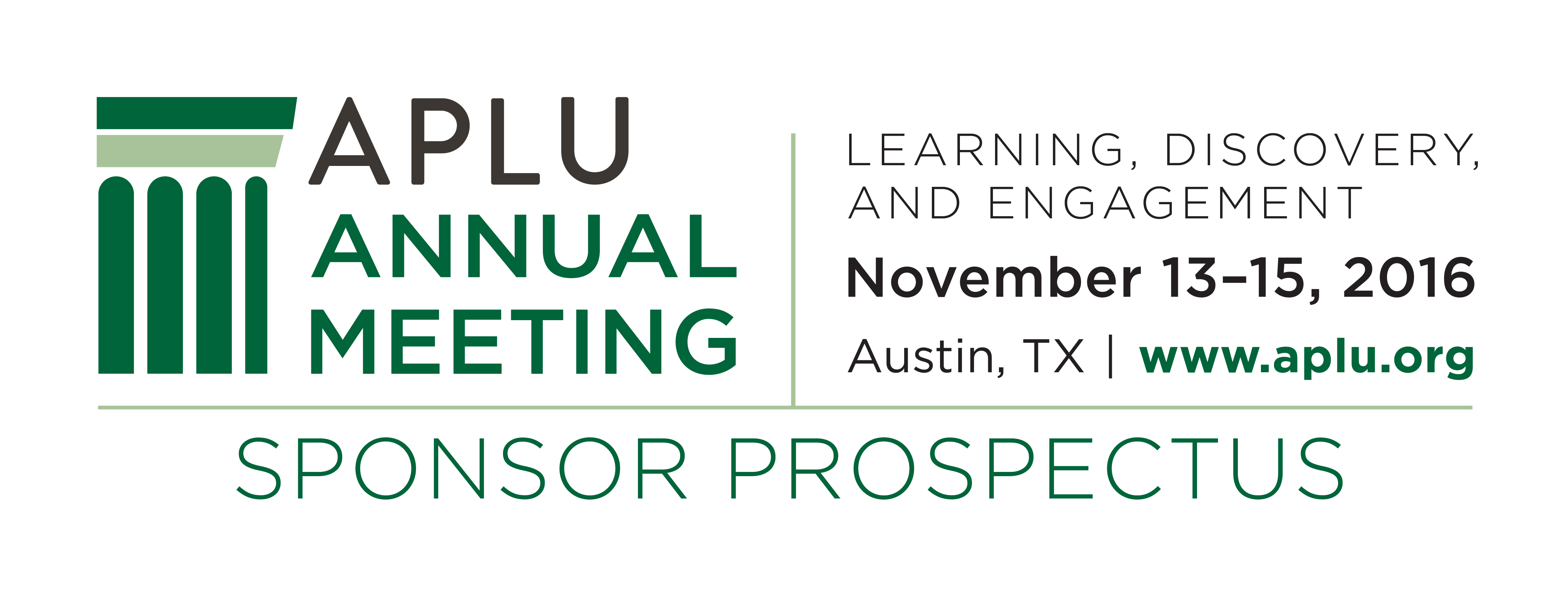 2016 APLU Annual Meeting Sponsors and Exhibitors