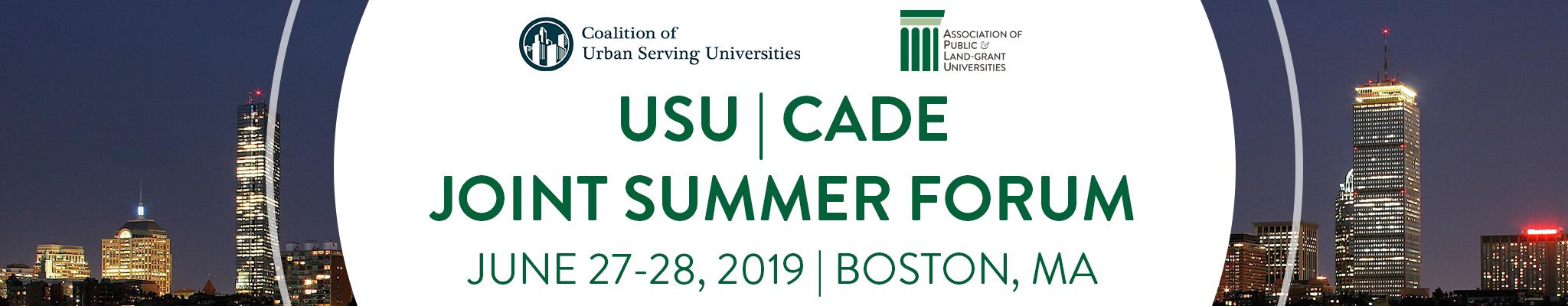 2019 USU & CADE Summer Forum