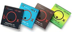 VD box in vier gekleurde dozen