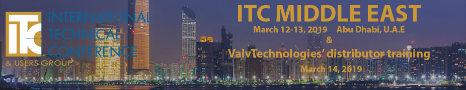 ValvTechnologies' International Technical Conference and Users Group Middle East 2019