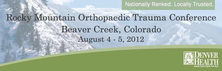 Rocky Mountain Orthopaedic Trauma Conference