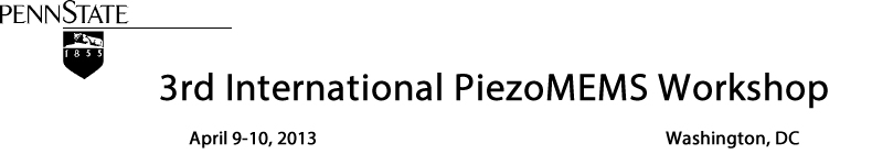 3rd International PiezoMEMS Workshop