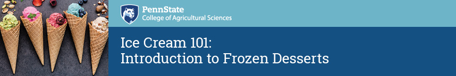 Ice Cream 101: Introduction to Frozen Desserts 2020