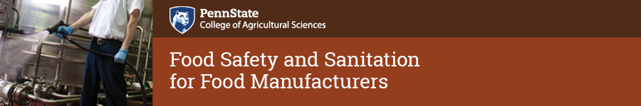 Food Safety and Sanitation for Food Manufacturers