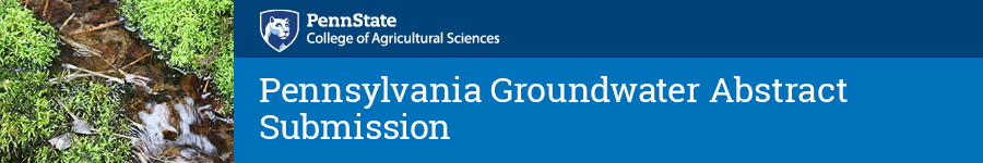 Pennsylvania Groundwater Symposium Abstract Submission