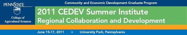 2011 CEDEV Summer Institute