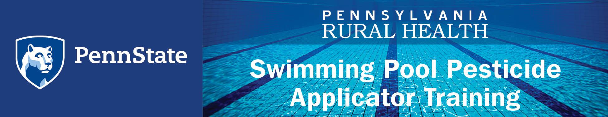 Swimming Pool Pesticide Applicator Training - WEBINAR