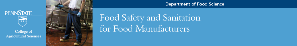 Food Safety and Sanitation banner