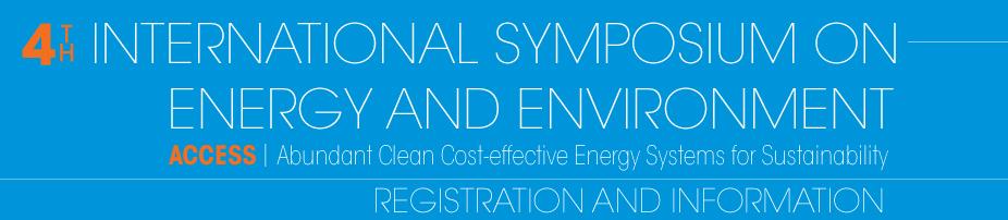 4th International Symposium on Energy & Environment:  ACCESS