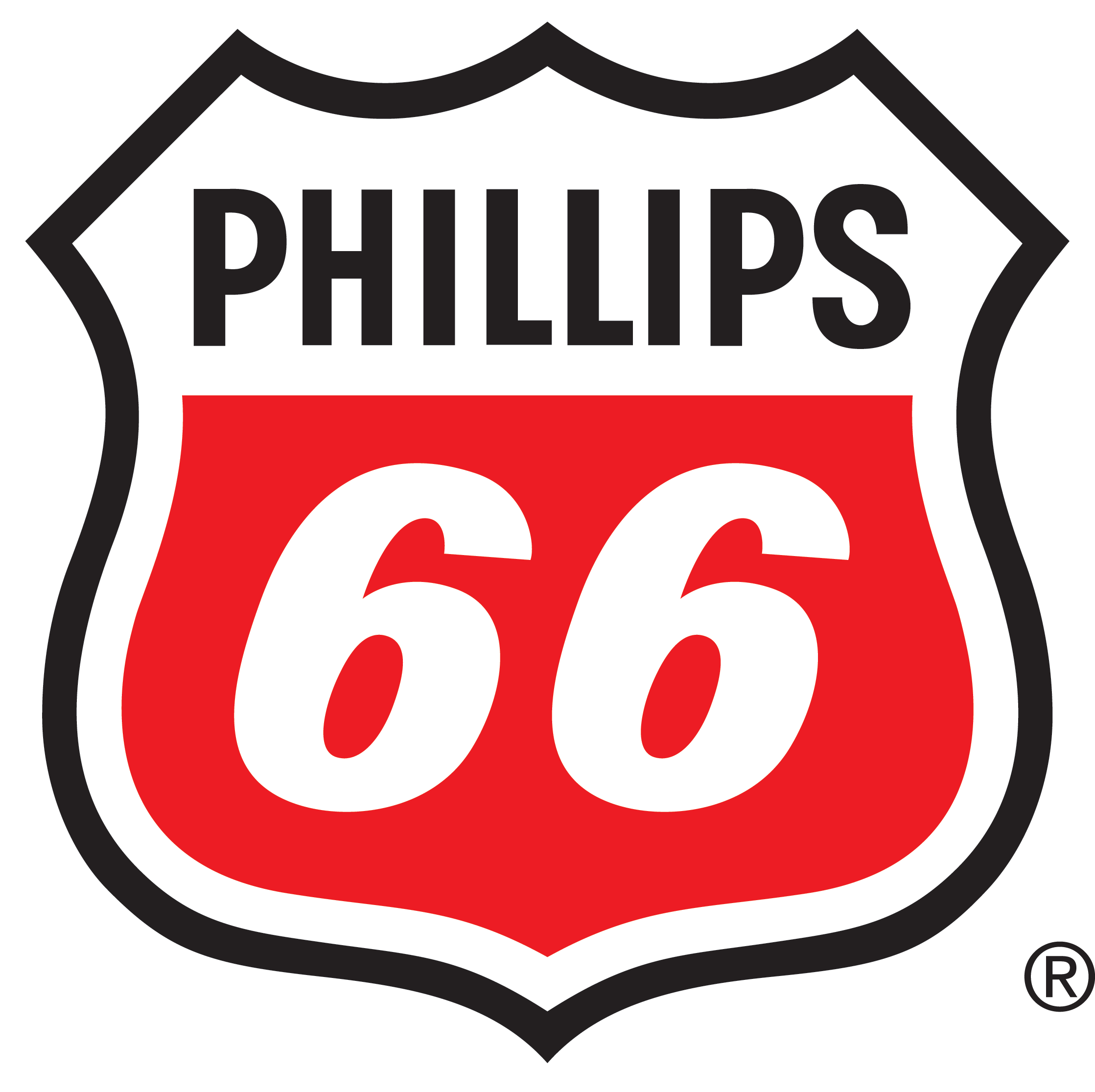Phillips 66 Corporate Logo Shield Only RGBColor