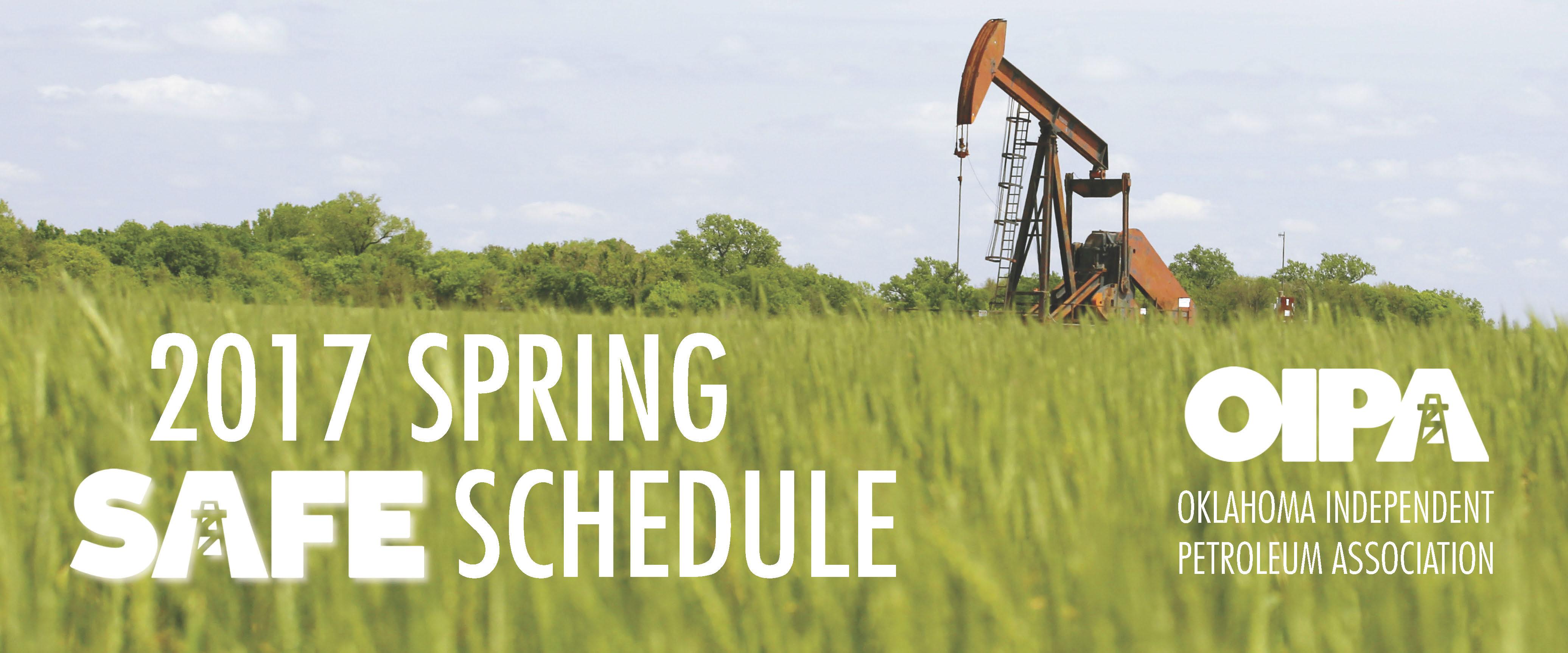 OIPA Spring 2017 SAFE Schedule