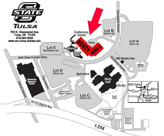 OSU Tulsa map