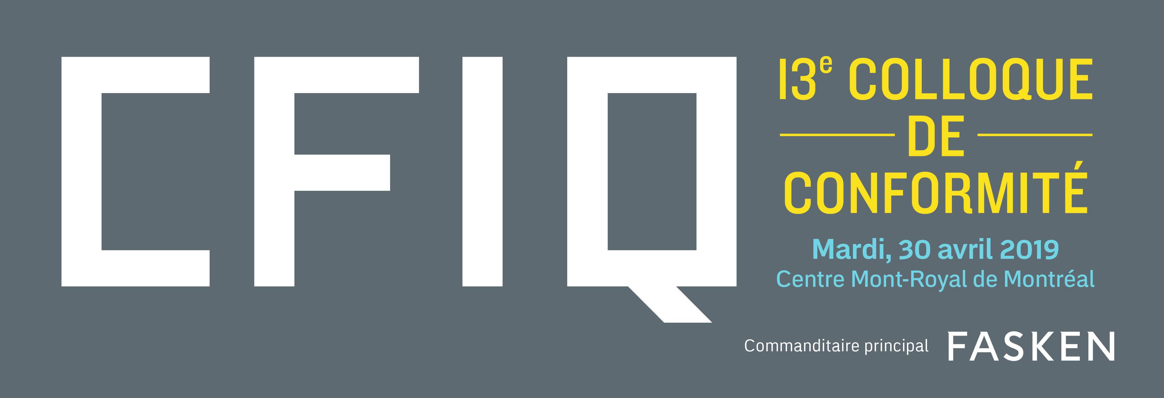 CFIQ 13e Colloque de conformité