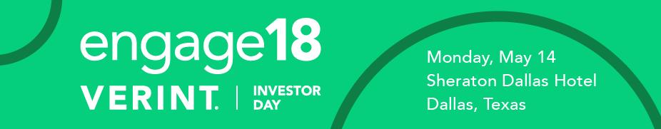 Verint Investor Day 2018