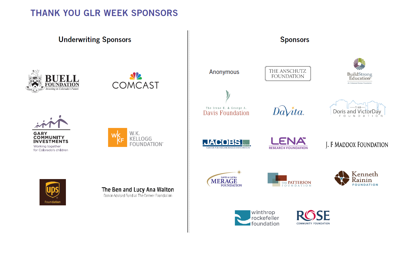 GLR Week Sponsor Image