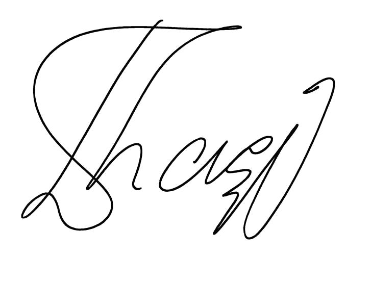 Unterschrift Thaci Diamant