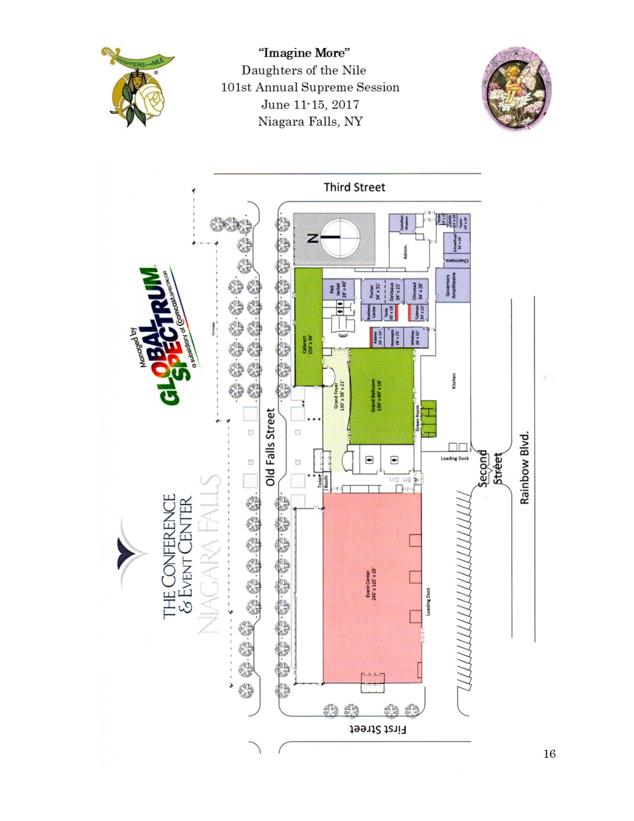 16 Convention Center map